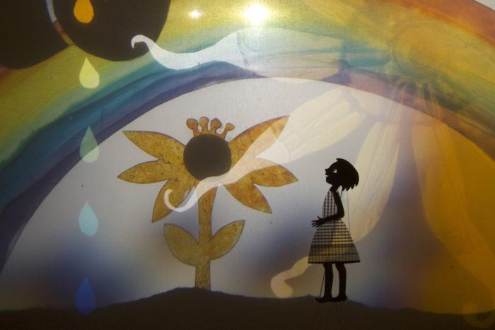 Amèlia and de moon shadows